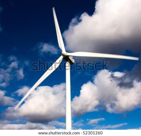 white wind turbine, alternative energy source
