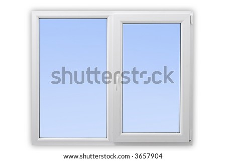 white window - stock photo