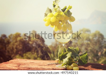 White wine #497540215