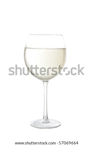 white wine cup - stock photo