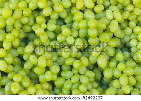 White wine grapes in a market