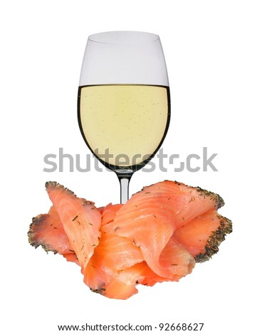 White wine with salmon