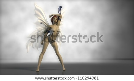 white wings fairy - stock photo