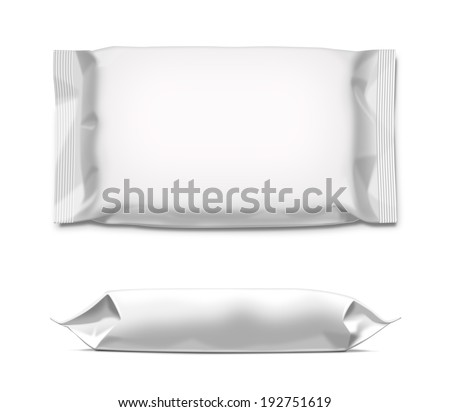White wipes plastic package isolated on white background Ready for your design Packaging collection