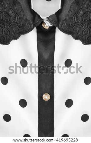 2e34c184d11dec White collar on black silk blouse as a background Images and Stock ...