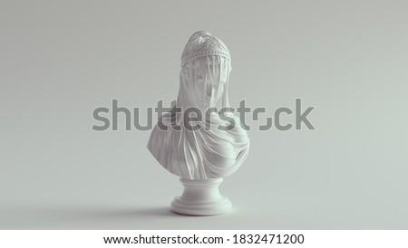 White Woman Drapery Bust Sculpture 3d illustration  Stock photo ©