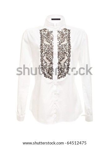 White Women Shirt Isolated on the White Background