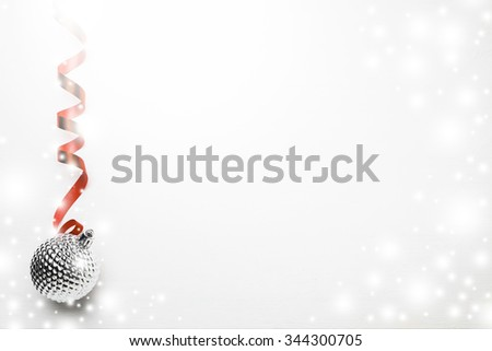 White wood background with christmas ornament, Christmas decoration background #344300705