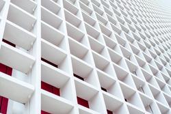 white wood lattice building background