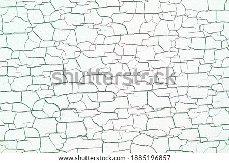 white wood texture surface is black color cracked and swelling, from the temperature of the heat from the sunlight that shines for a long time Foto stock ©