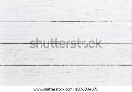 White Wooden Background Top View #1076034875