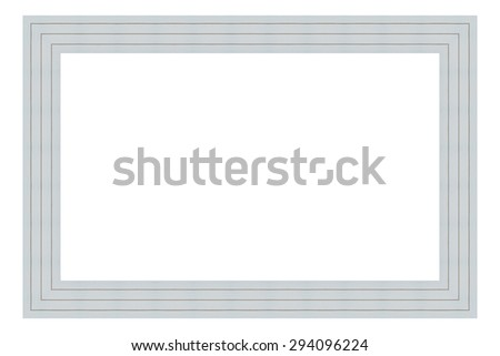 White wooden frame isolated on white background. Contemporary ...