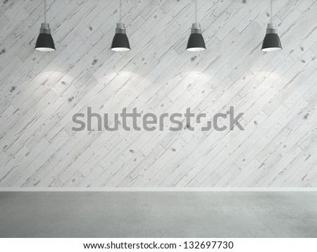 white wooden laminate wall and lamps