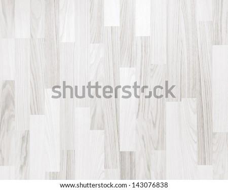 White wooden parquet flooring texture. Horizontal seamless wooden background.