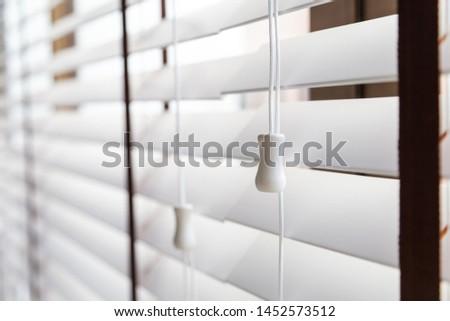 White Wooden shutters blinds (Windows blinds) #1452573512