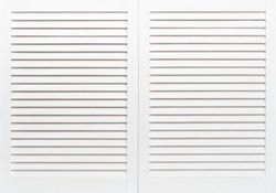 White wooden shutters closeup. May use as background