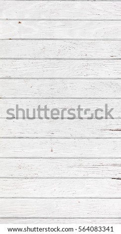 White wooden wall, boards. Old white rustic wood background, wooden surface #564083341