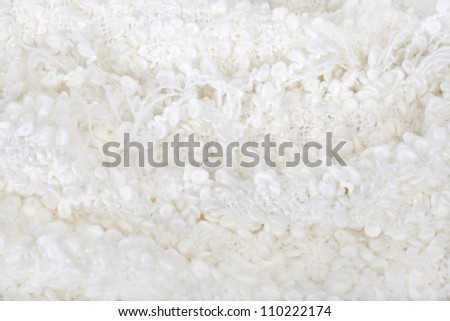 White  wool  boucle texture