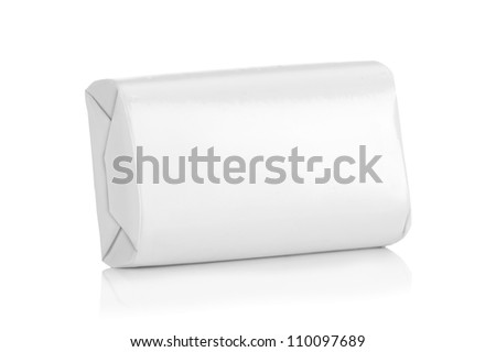 White wrap box package for new design on white background