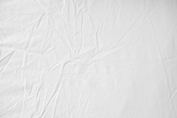 White Wrinkled Fabric Texture for back ground