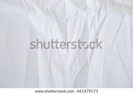 White wrinkled paper background texture #465479573