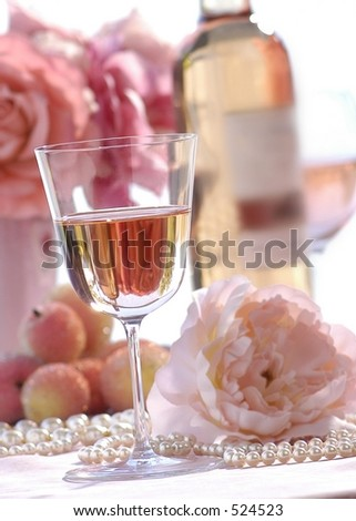 white zinfandel - stock photo