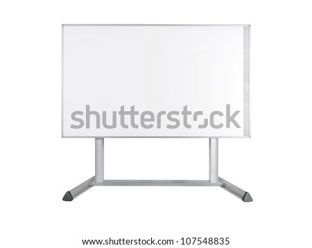 Whiteboard isolated on white