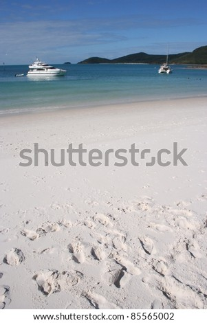 Whitehaven beach in the Whitsunday islands off the Queensland coast of Australia