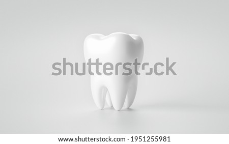Whitening tooth and dental health on treatment background with cleaning teeth. 3D rendering. Сток-фото ©