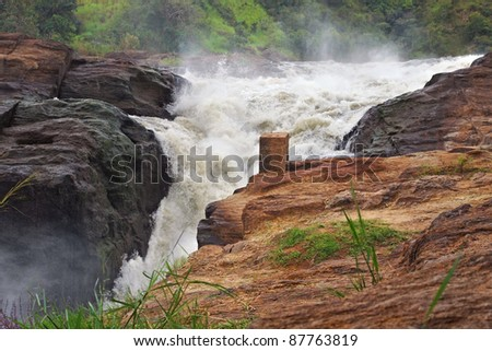 whitewater scenery at the Murchison Falls in Uganda (Africa)