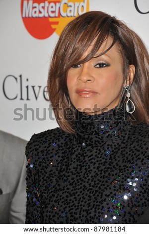Whitney Houston at the 2011 Clive Davis pre-Grammy party at the Beverly Hilton Hotel. February 12, 2011  Beverly Hills, CA Picture: Paul Smith / Featureflash