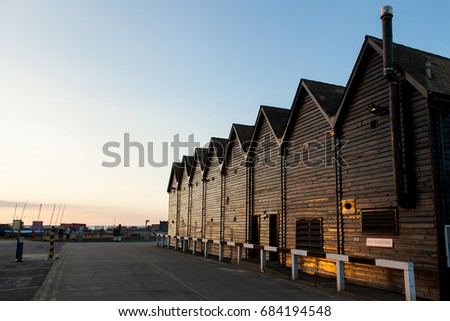 Whitstable-seaside town on the north coast of Kent in south-east England. #684194548