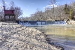 Whittles Mill dam on the Meherrin River in Virginia
