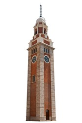 Whole Clock Tower in Tsim Sha Tsui (Isolated)