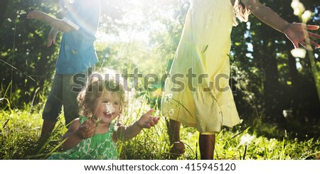 Whole Family Outdoors Togetherness Concept - Shutterstock ID 415945120