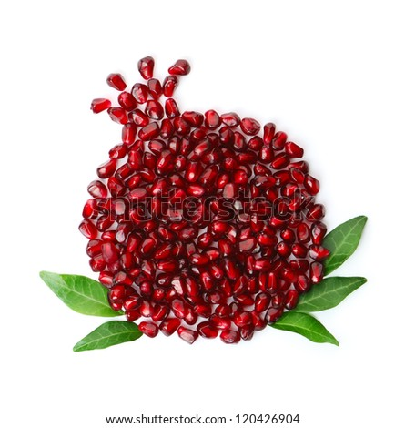 Whole fruit shaped pomegranate seeds