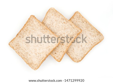 Whole Grain Bread isolated on white background, Breakfast with whole Grain Bread, Closeup whole grain bread #1471299920
