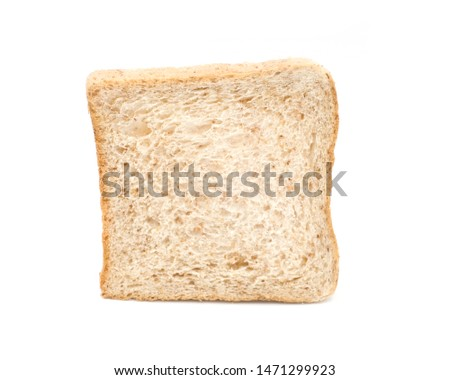 Whole Grain Bread isolated on white background, Breakfast with whole Grain Bread, Closeup whole grain bread #1471299923