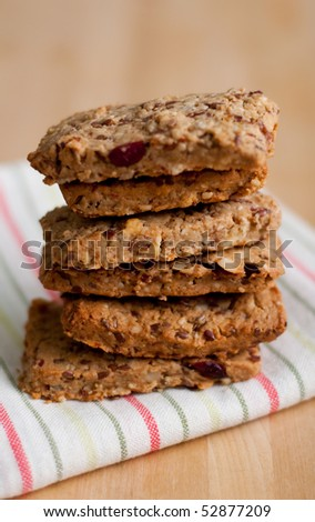 Whole Grain Energy Bars with Dried Berries and Nuts