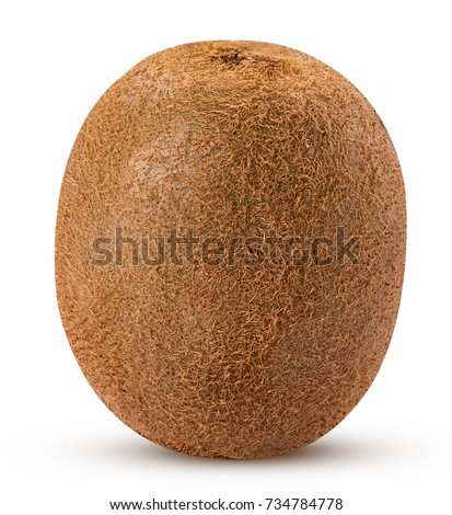Whole kiwi fruit isolated on white background. Clipping Path. Full depth of field. Zdjęcia stock ©