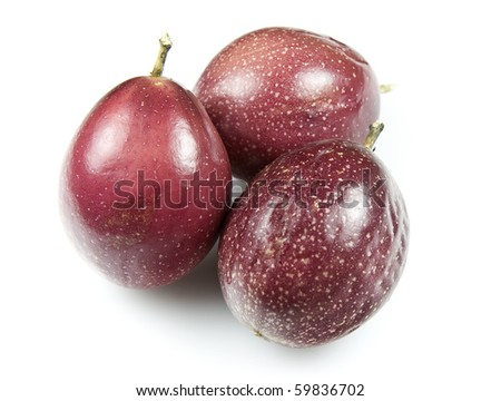 Whole Organic Passion Fruit - stock photo