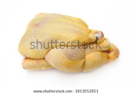 whole raw guinea fowl isolated on a white background Сток-фото ©