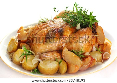 roasted herb chicken and campbell s pan roasted chicken herb chicken ...