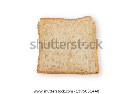 Whole wheat bread is a kind of bread made from flour that is partially or completely crushed from whole or almost whole grains, whole wheat flour and cereal. Is a kind of brown bread #1396051448