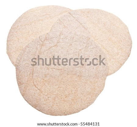 Whole Wheat Tortilla Wraps Isolated on White with a Clipping Path.