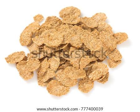 wholegrain flakes isolated #777400039