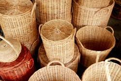 Wicker Bamboo baskets