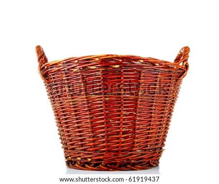 Wicker basket - isolated over white