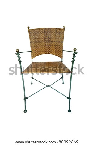 Wicker chair on a white background