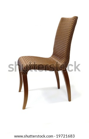 wicker classical chair - side view #19721683